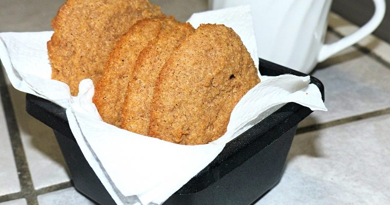 Low Carb Cinnamon Coconut Cookies