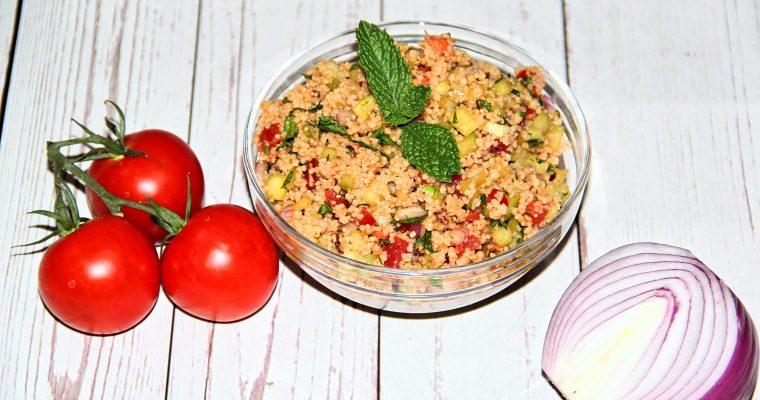 Whole Wheat Mediterranean Couscous Salad