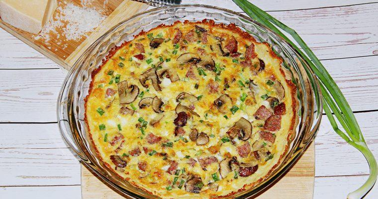 Quiche with Potato Crust (Gluten and Grain Free)