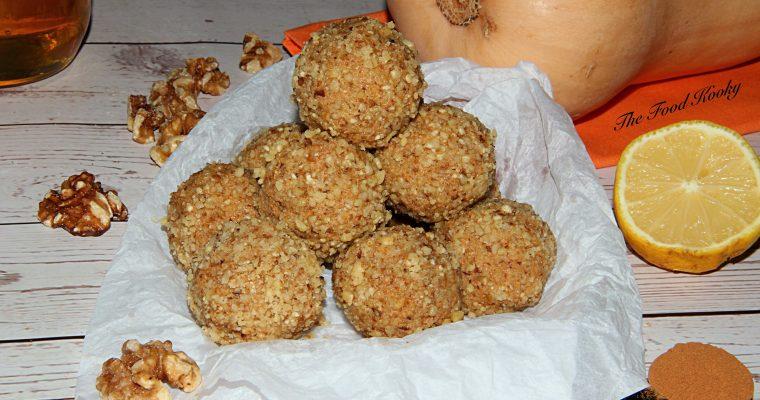 Pumpkin Walnut Energy Balls (No Bake, Paleo, Gluten Free)