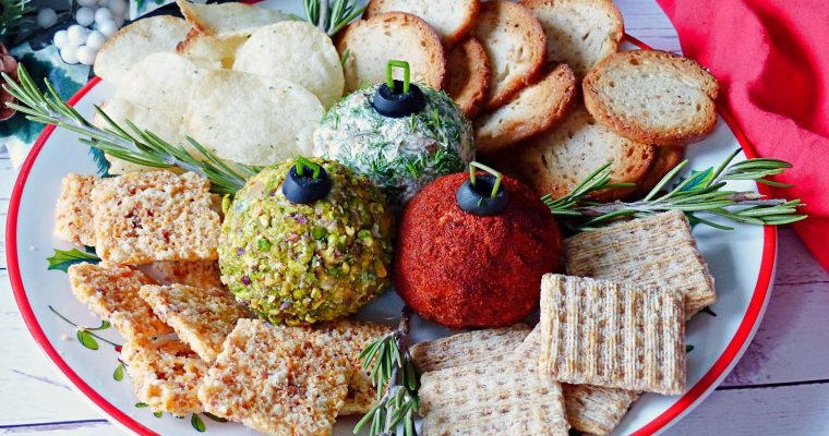 Christmas Ornament Cheeseball Appetizer (Low Carb and Gluten Free)