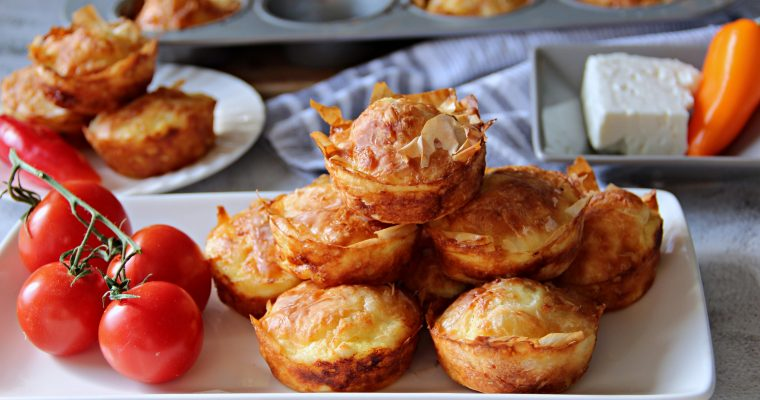 Mini Phyllo Dough Feta Pastries (Pictures and Video)