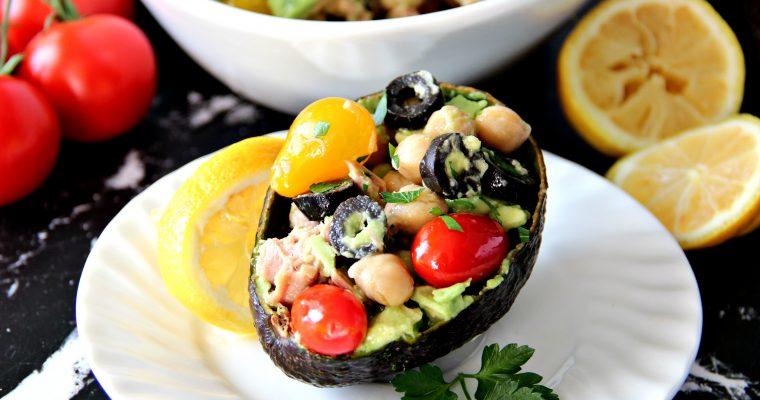 Chickpea Tuna Avocado Salad (Easy)