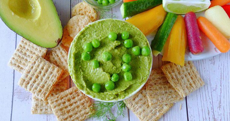 Avocado Dip With Green Peas and Dill (Vegan)
