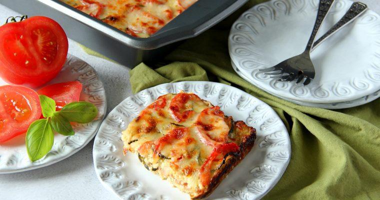 Cauliflower Rice Bake with Zucchini and Tomatoes (Gluten Free)
