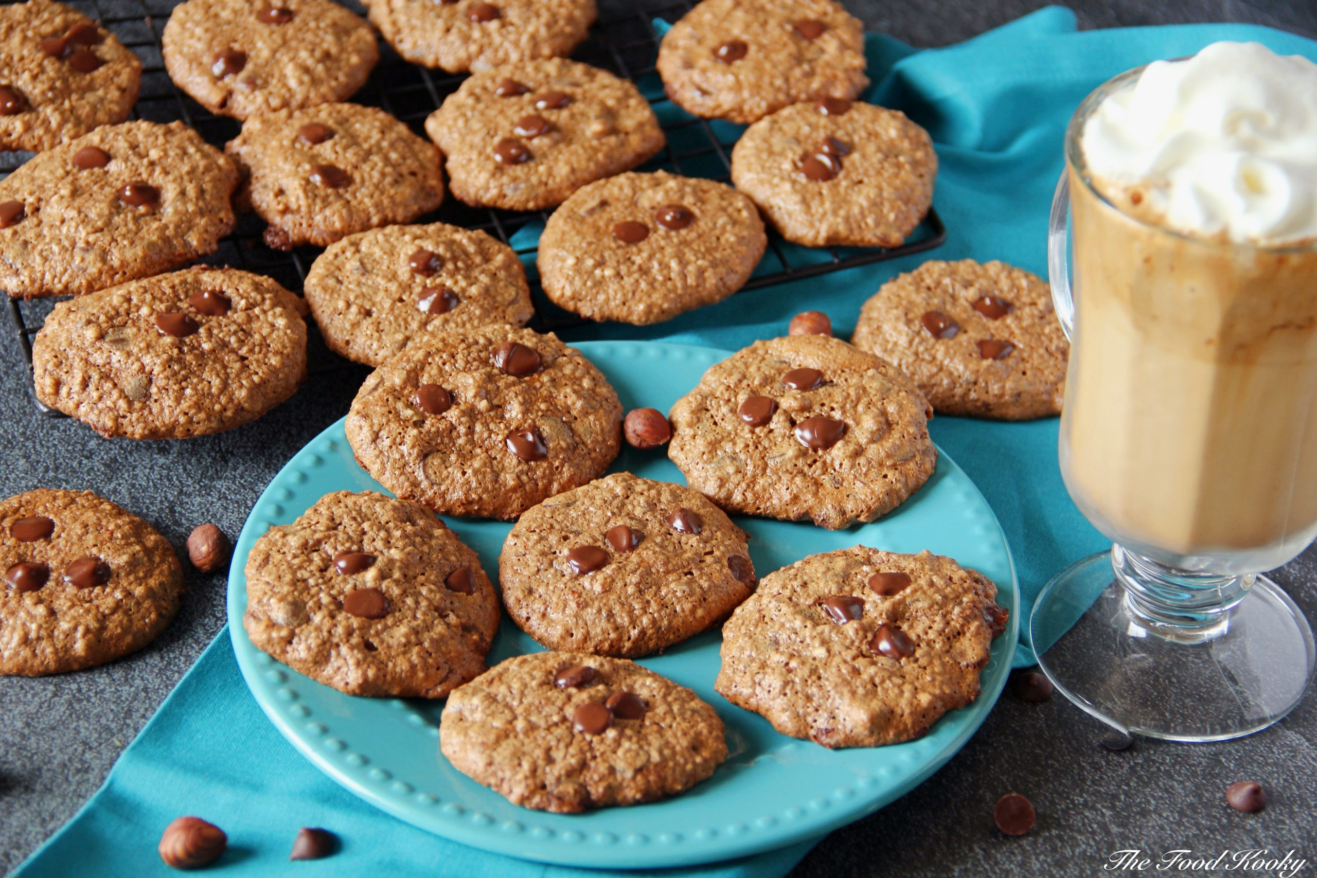 Cookies with Hazelnuts Coffee and Chocolate Chips (Gluten Free)