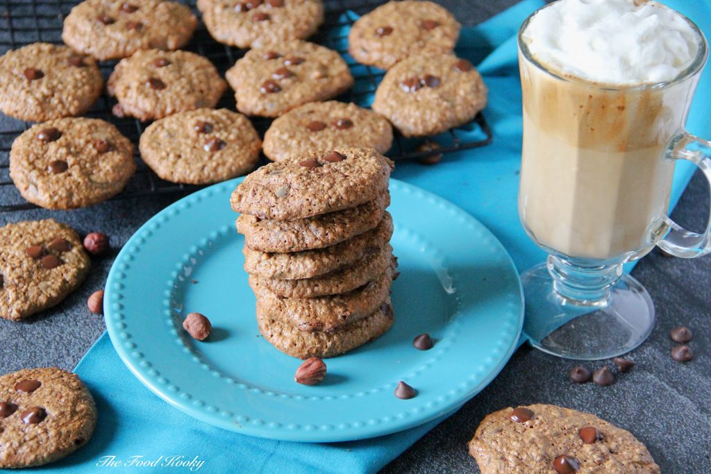 Cookies with Hazelnuts Coffee and Chocolate Chips