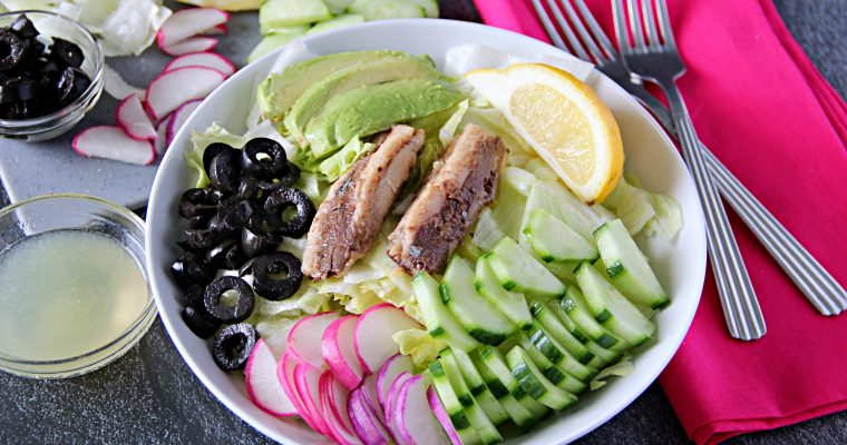 My Favorite Salad with Canned Sardines