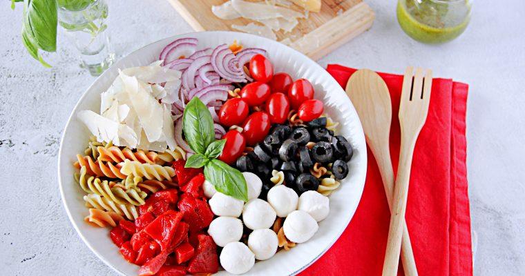 Pasta Salad with Homemade Italian Dressing