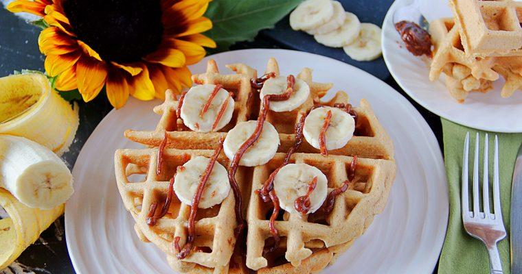 Five Ingredient Peanut Butter Waffles (Gluten, Grain and Dairy Free)