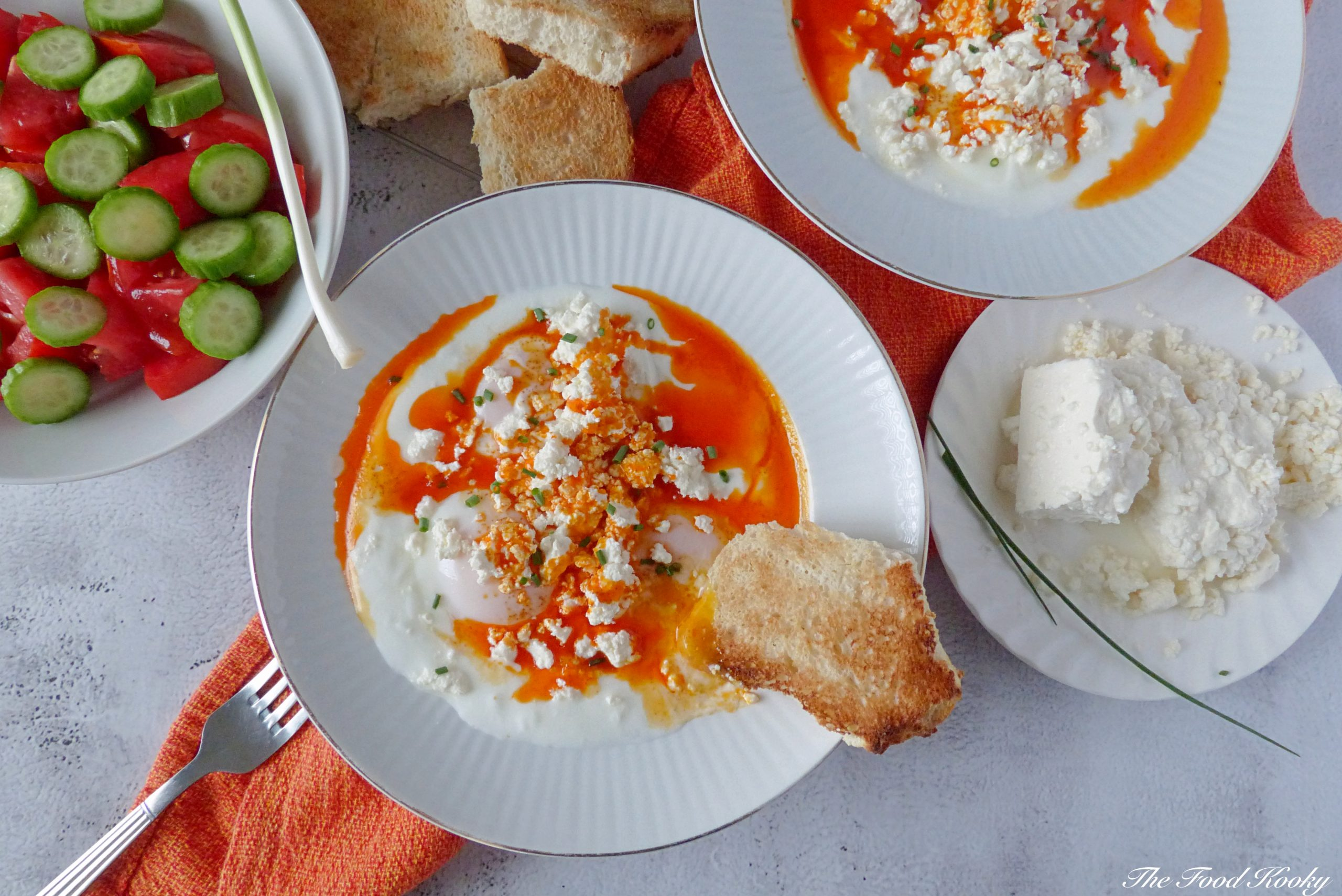 Poached Eggs with Yogurt and Buttery Paprika Sauce (Video)