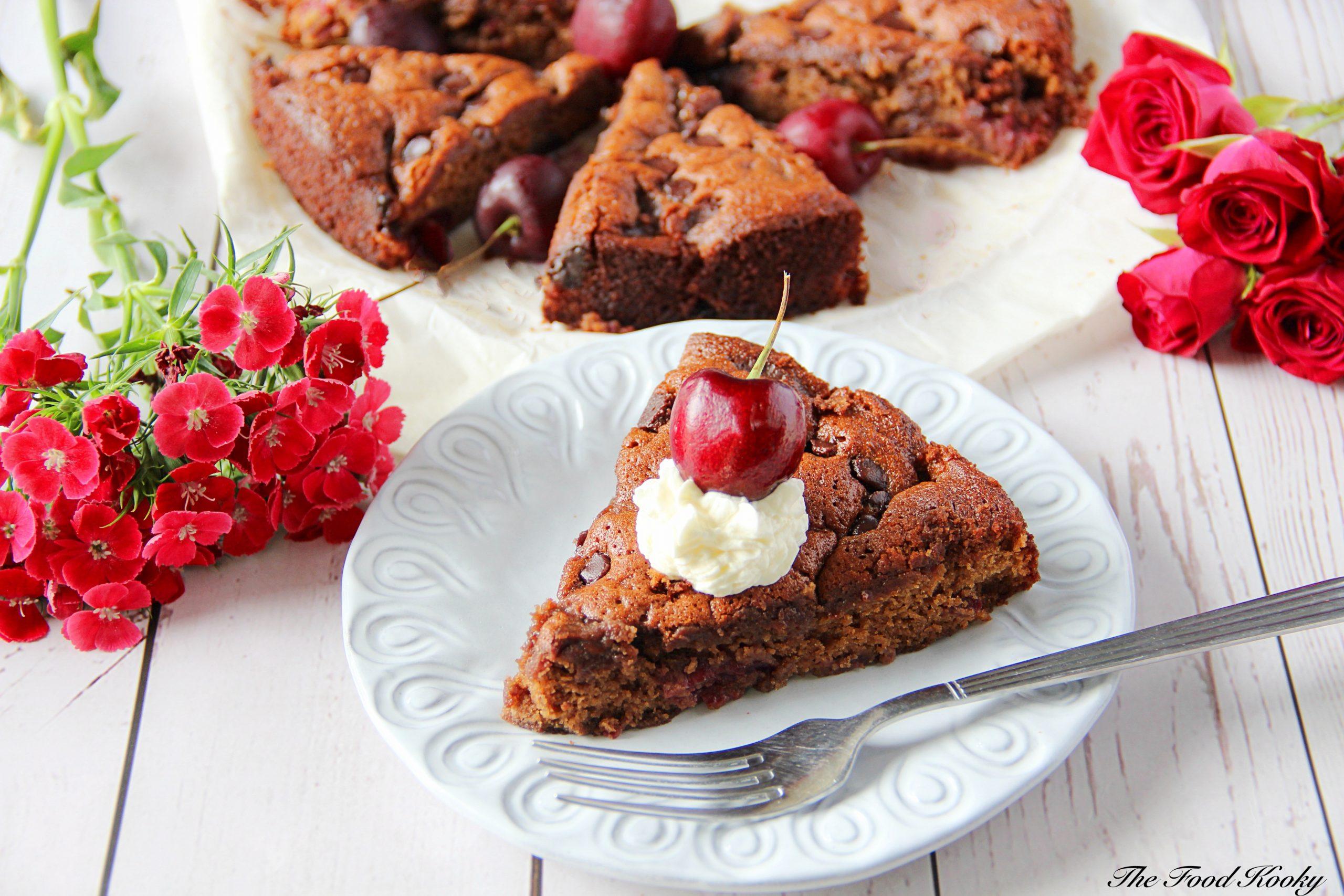 Easy Chocolate Cherry Cake (Video)