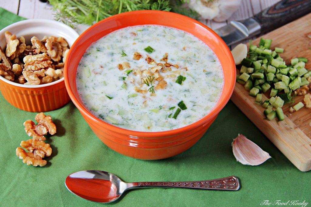 Bulgarian Cold Cucumber and Yogurt Soup