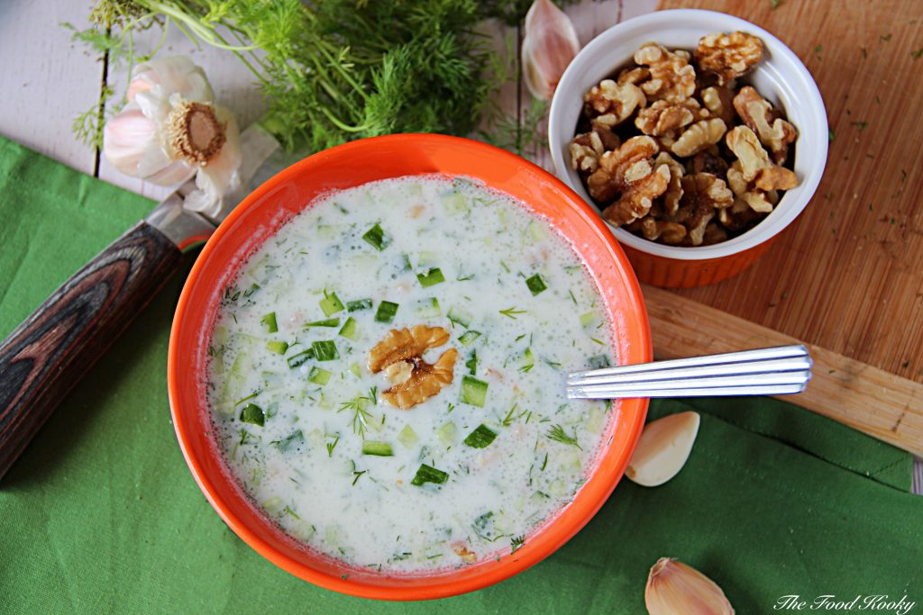 Bulgarian Cold Soup with Cucumber and Yogurt