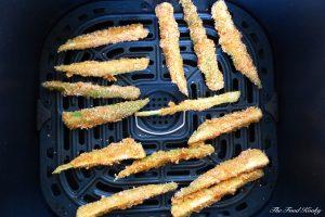 Okra in the air fryer