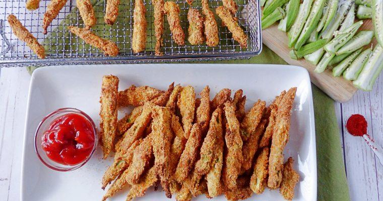 Crispy Okra in an Air Fryer (Keto, Gluten Free)