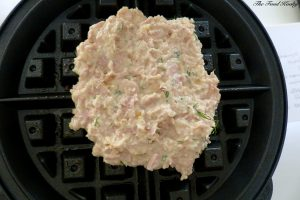 Mixture in the waffle maker
