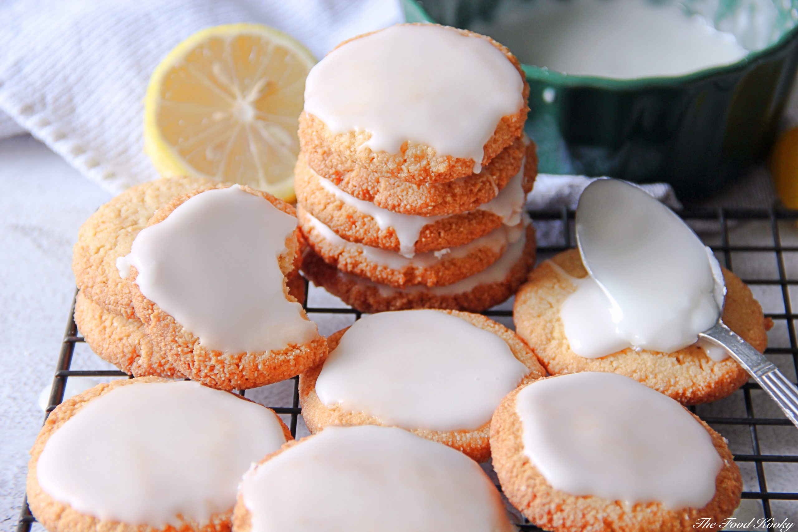Almond Cookies with Lemon Glaze (Grain and Gluten Free)