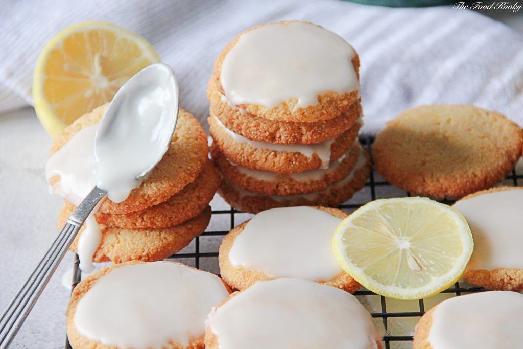 Almond Cookies with Lemon Glaze