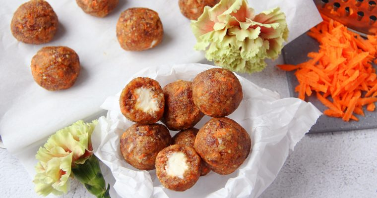Carrot Cake Balls with a Creamy Filling (Grain and Gluten Free)