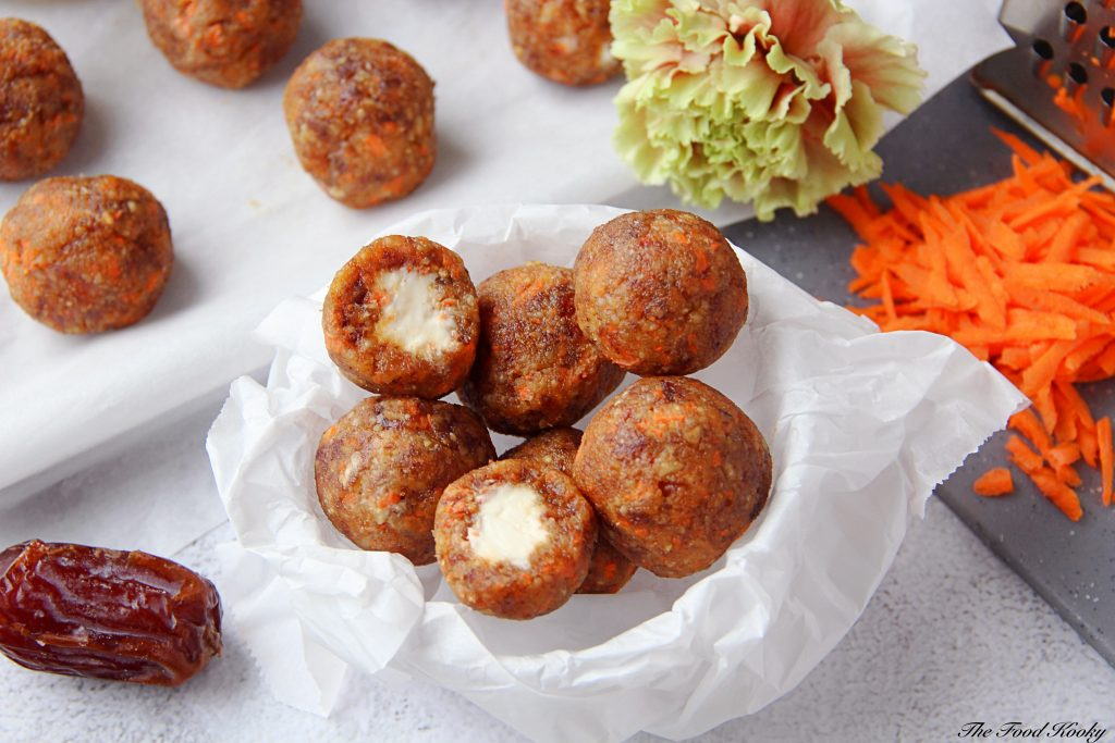 Carrot Cake Balls with Creamy Filling