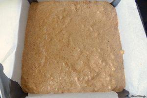 Raw dough in tha pan