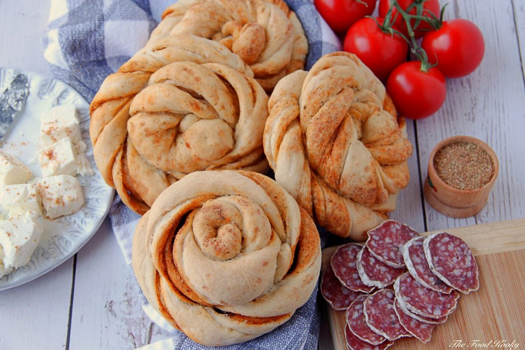 Twisted Spiral Bread Buns with Mediterranean Spices